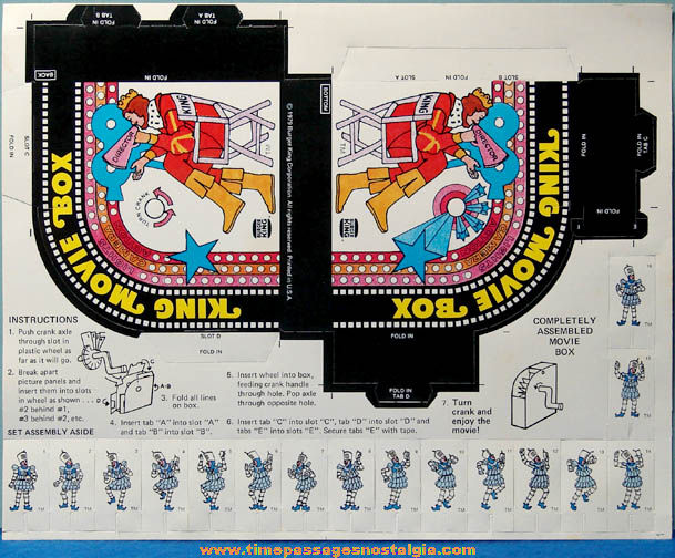 Unpunched ©1979 Burger King Restaurant Premium Diecut Character Movie Box