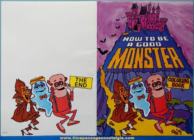 Old Unused General Mills Monster Cereal Advertising Premium Coloring Book