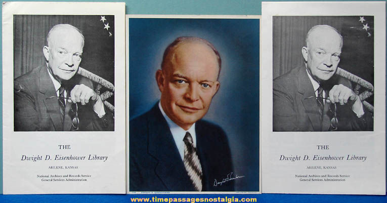 (3) Old United States President Dwight D. Eisenhower Paper Items