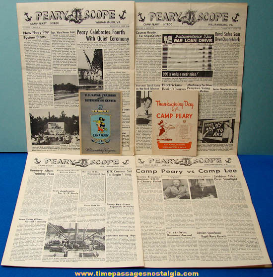 (6) 1944 United States Navy Camp Peary Williamsburg Virginia Items