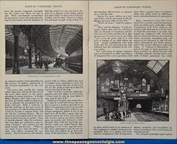 ©1962 Railway Passenger Travel 1825 - 1880 Book