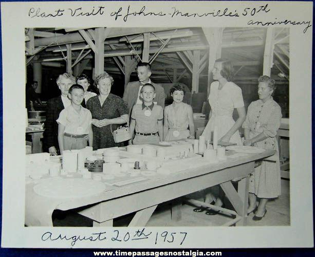 (13) 1957 - 1988 Johns - Manville Nashua New Hampshire Plant Company Items