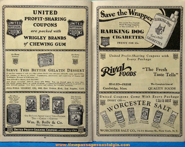 1930 - 1931 United Profit Sharing Coupons Advertising Premium Merchandise Catalog