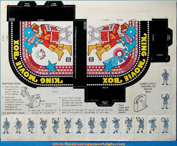 Unpunched ©1979 Burger King Restaurant Premium Diecut Character Movie Box