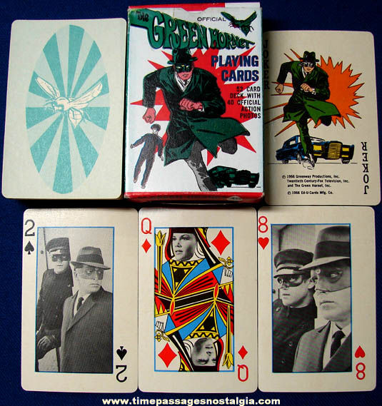 ©1966 Boxed Green Hornet Television Character Playing Cards