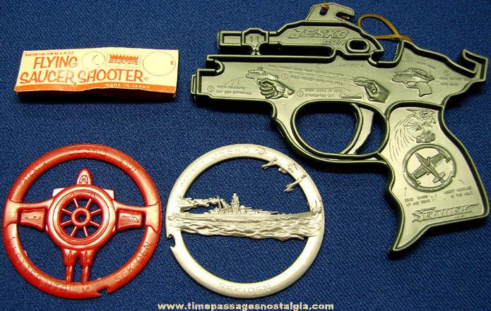 Old Unused Jesko Flying Saucer Shooter Plastic Toy Gun