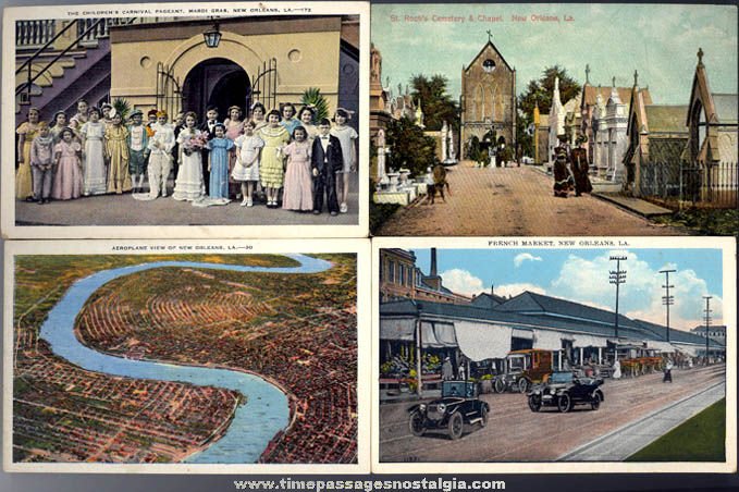 (4) Colorful Old New Orleans Louisiana Post Cards