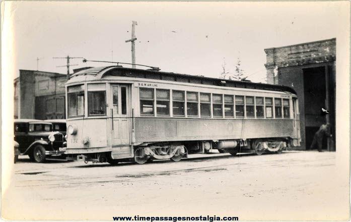 Old Boston & Worcester Massachusetts Electric Street Car #137 Photograph