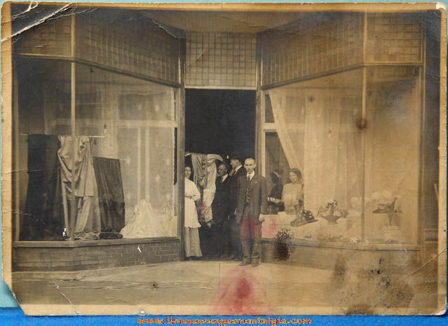 (2) Old Interior & Exterior Millinery Store Photographs