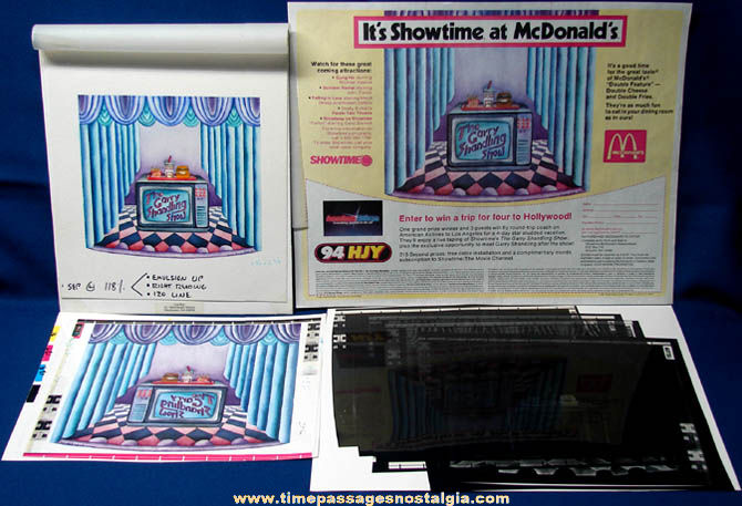 ©1987 Garry Shandling Show & McDonald's Restaurant Original Art & Print