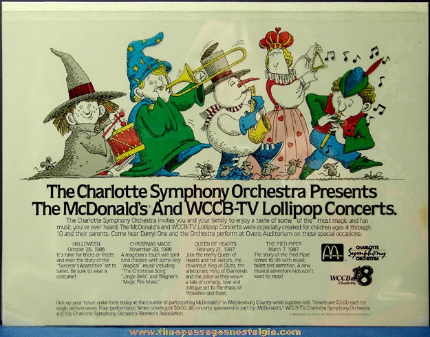 Colorful ©1986 McDonald's Restaurant Advertising Place Mat Production Art Color Separations