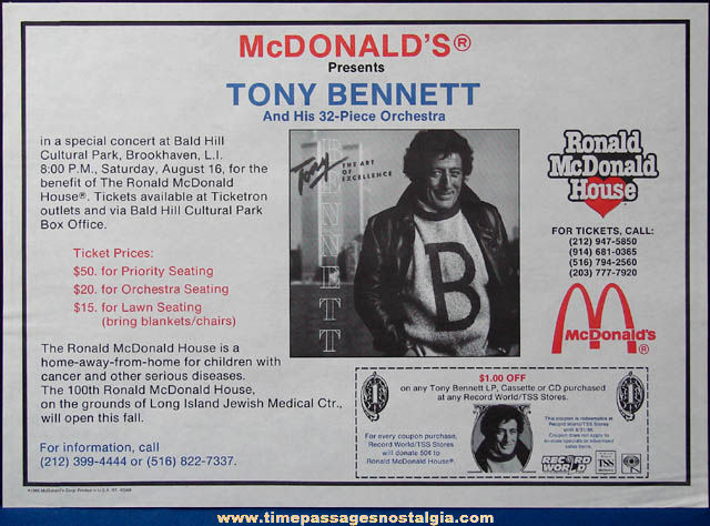 (5) Colorful 1980s McDonald's Restaurant Advertising Place Mat Press Proofs