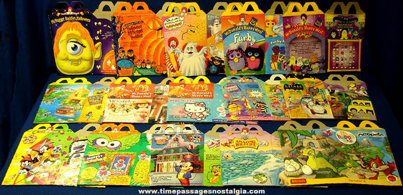 (15) Different ©1993 - 2004 Unused McDonald's Restaurant Advertising Happy Meal Boxes