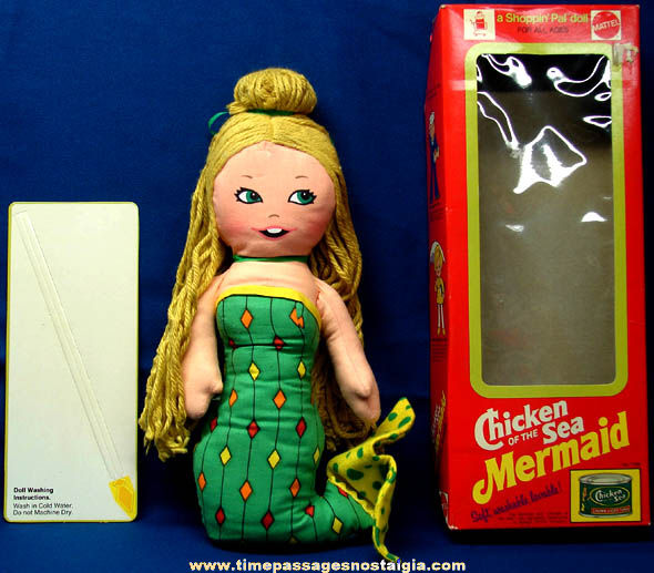 Boxed ©1974 Chicken of the Sea Mermaid Advertising Character Shoppin' Pal Doll