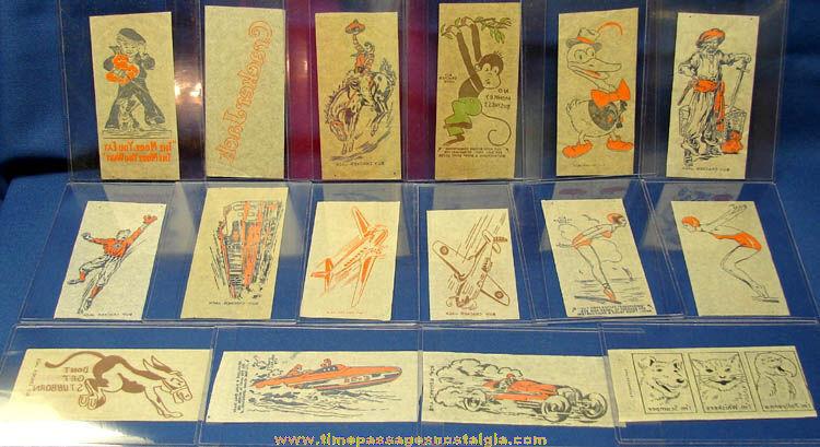 Complete Set of (26) 1930s Cracker Jack Advertising Premium Iron On Transfers