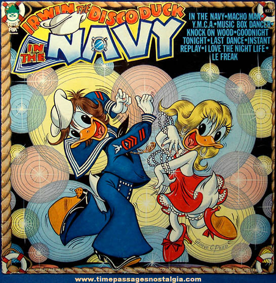 Old Irwin The Disco Duck In The Navy Record Album