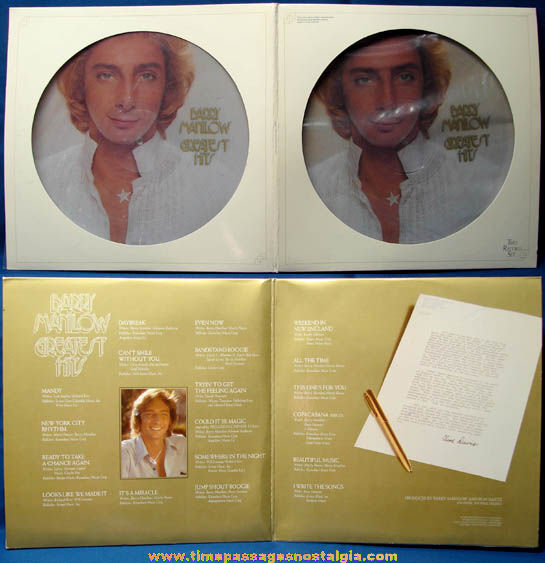 ©1978 Barry Manilow Greatest Hits Two Picture Record Album Set