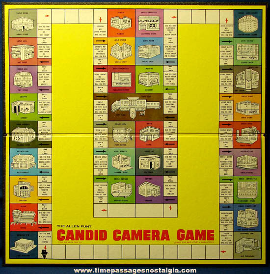 Colorful Boxed �1963 Allen Funt Candid Camera Board Game
