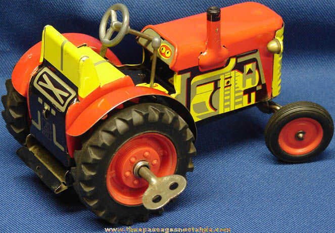 Old Tractor Keys : Old key wind up tin toy zetor farm tractor tpnc