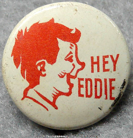 Lowney's Hey Eddie Candy Bar Advertising Premium Pin Back Button