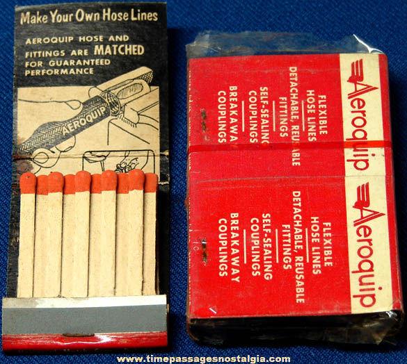 (5) Old Unused Aeroquip Corporation Advertising Match Books