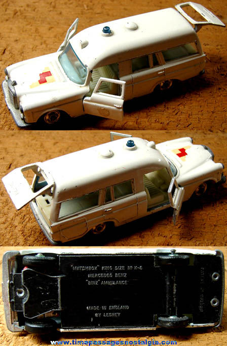 Old Lesney Matchbox King Size Mercedes Benz Ambulance