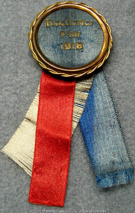 1918 Rochester New Hampshire Fair Advertising Award Ribbon