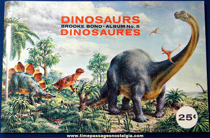 �1966 Unused Brooke Bond Tea Premium Dinosaur Card Album