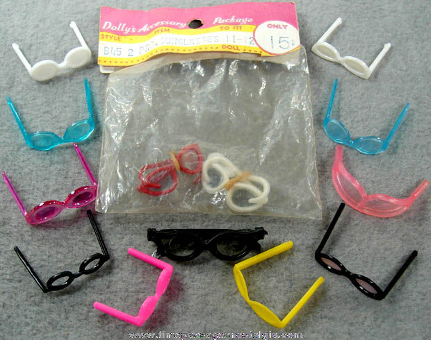 (13) Miniature Pairs of Toy Barbie Doll Eye Glasses and Sunglasses