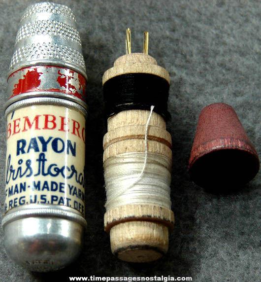 Old Bemberg Rayon Yarn Advertising Premium Sewing Kit