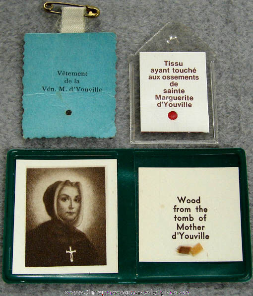 (6) Small Old Catholic or Christian Religious Relic Items