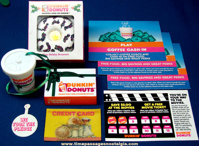 (9) Dunkin' Donuts Advertising Items