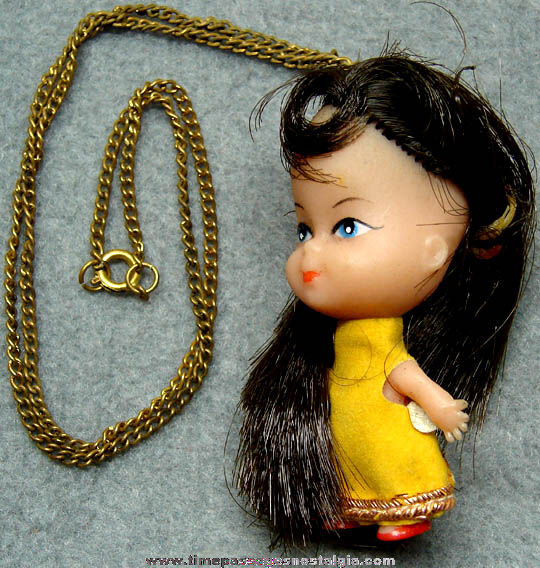 Old Liddle Kiddles Character Doll Necklace