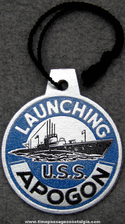 1943 U.S.S. Apogon (SS-308) Submarine Launching Souvenir Tag