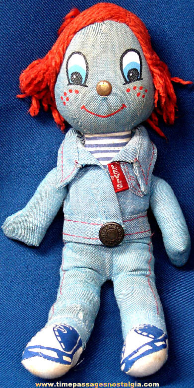 �1973 Knickerbocker Levis Denim Jeans Advertising Rag Doll