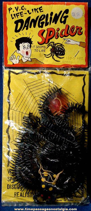Large Old Unopened Prank Joke Dangling Rubber Spider