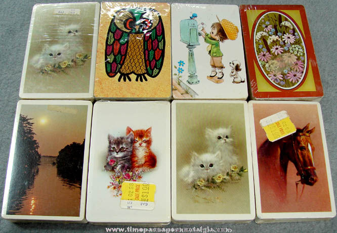 (8) Old Unopened Playing Card Decks