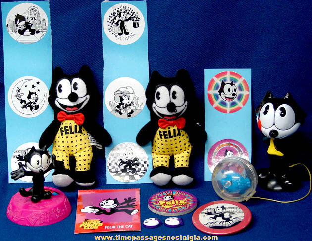 (17) Felix The Cat Character Toy Items