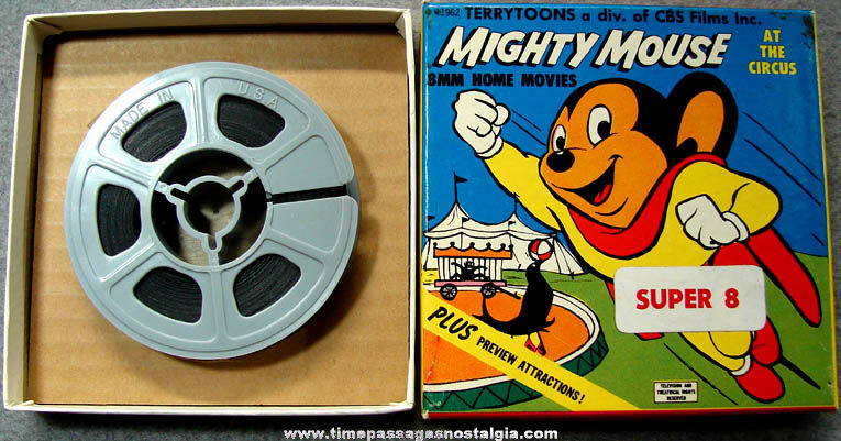 Boxed ©1962 Mighty Mouse At The Circus Super 8mm Cartoon Film