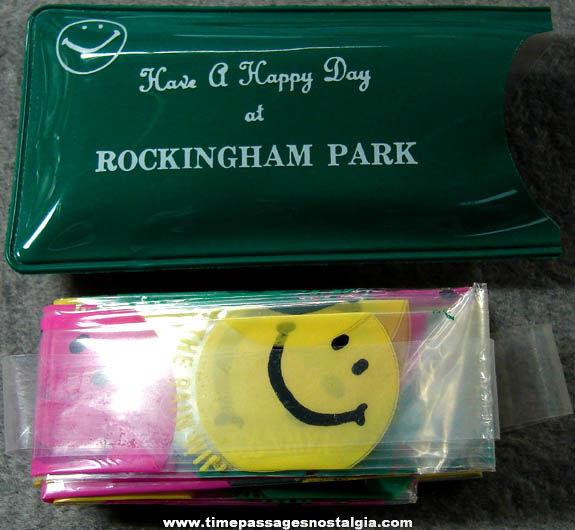 Old Unused Rockingham Park New Hampshire Advertising Premium Smile Face Rain Bonnet