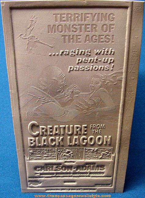 Unused 1954 Creature From The Black Lagoon Movie Ad Mat Mold