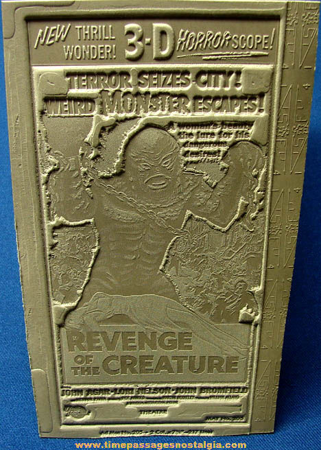 Unused 1955 Creature From The Black Lagoon Revenge of the Creature Movie Ad Mat Mold