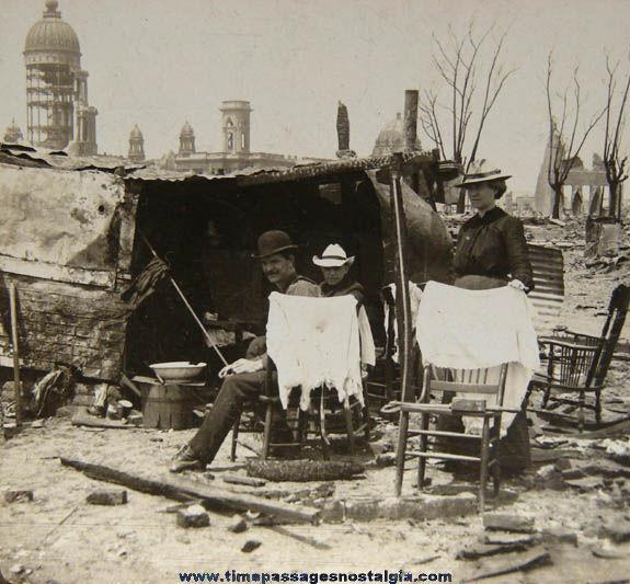 ©1906 San Francisco Earthquake Stereoview Photograph Card