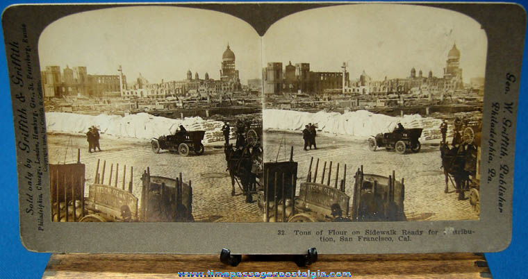 ©1906 San Francisco Earthquake Stereoview Photograph Card