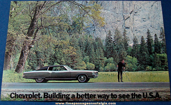 Large Unused 1972 Chevrolet Monte Carlo Dealership Advertising Post Card