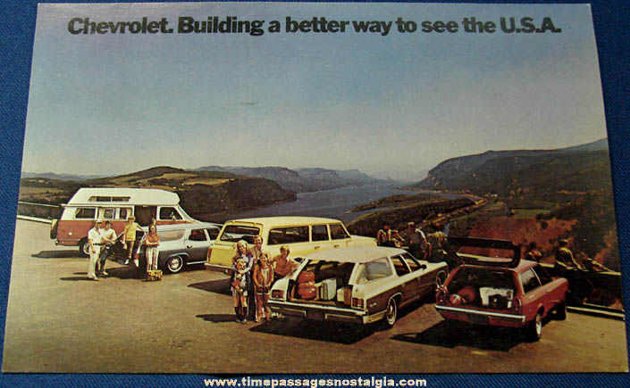 Large Unused 1972 Chevrolet Car Dealership Advertising Post Card