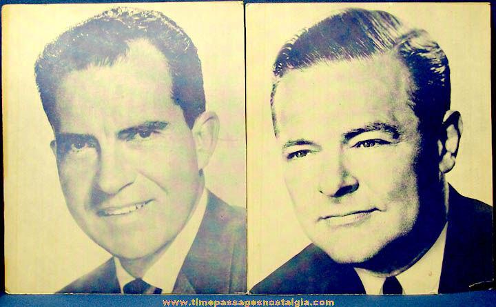 1960 Richard M. Nixon & Henry Lodge, Jr. Presidential Campaign Portrait Prints