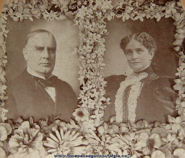 �1896 U.S. President William McKinley & Mrs. McKinley Stereoview Photograph Card
