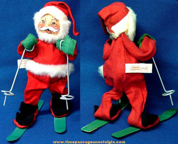 ©1971 Christmas Skiing Santa Claus Annalee Doll Figurine