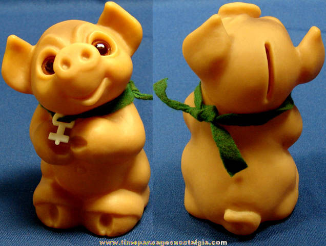 Old Dam Troll Pig Character Piggy Bank With Key